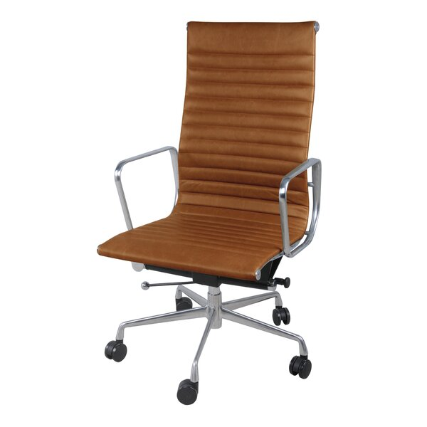 Boudreaux PU High Back Office Executive Chair by Latitude Run