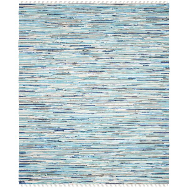 Samia Hand-Woven Blue Area Rug by Bungalow Rose