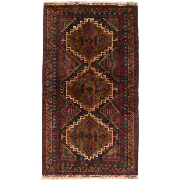 One-of-a-Kind Rizbaft Hand-Knotted Black / Brown Area Rug by ECARPETGALLERY