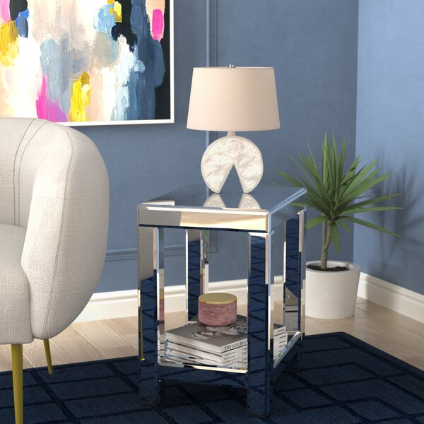 Lavanna Mirror End Table by House of Hampton