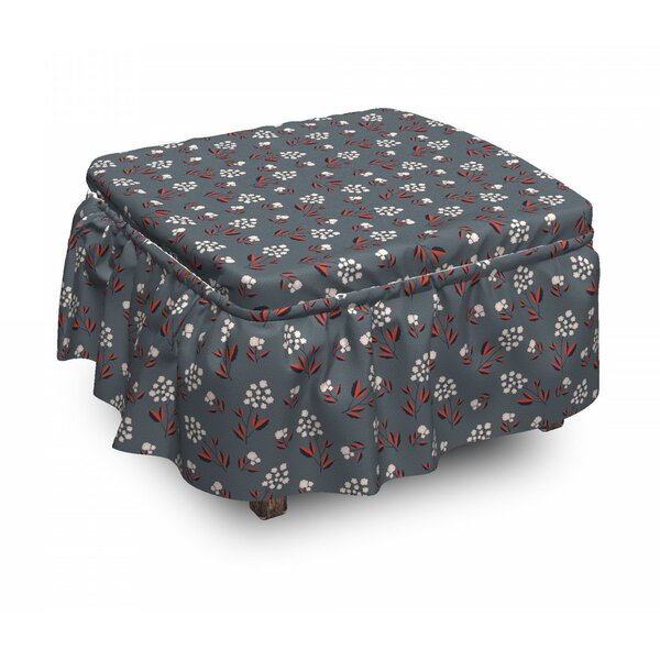 Spring Petals Blooms Ottoman Slipcover (Set Of 2) By East Urban Home