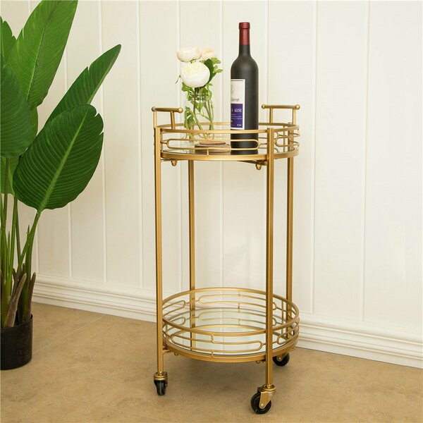 Howden Metal Mirrored Bar Cart by Everly Quinn Everly Quinn