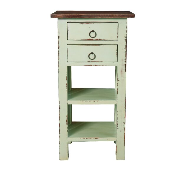 Altha Cottage End Table with Storage by August Grove August Grove