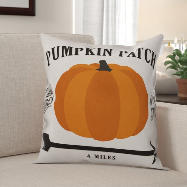 Alexis Pumpkin Patch Throw Pillow by The Holiday Aisle
