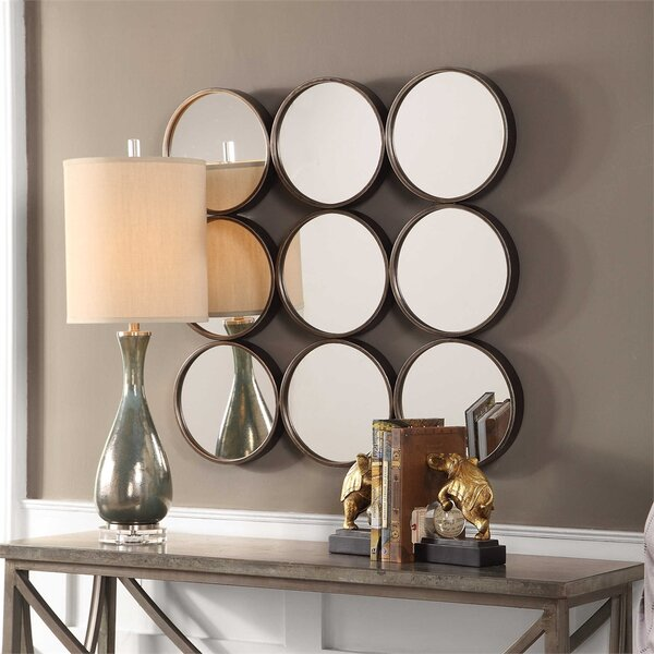 Norah Welded Iron Rings Accent Mirror by Charlton Home