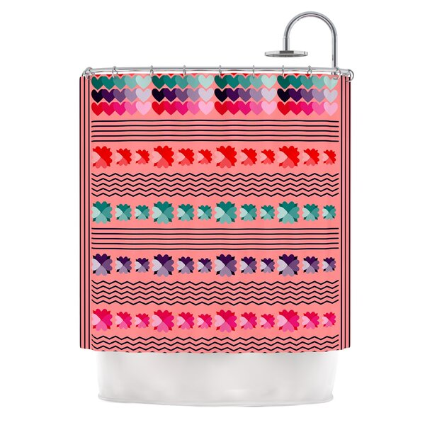 Romantic Love by Famenxt Abstract Shower Curtain by East Urban Home