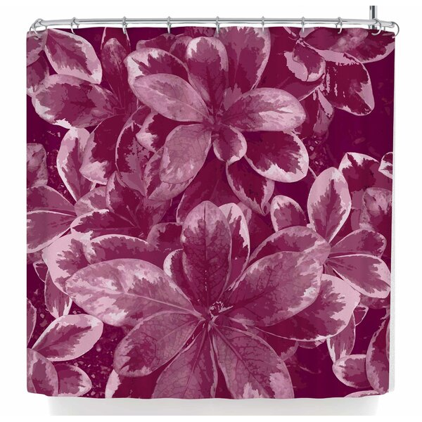 Julia Grifol Warm Leaves Shower Curtain by East Urban Home