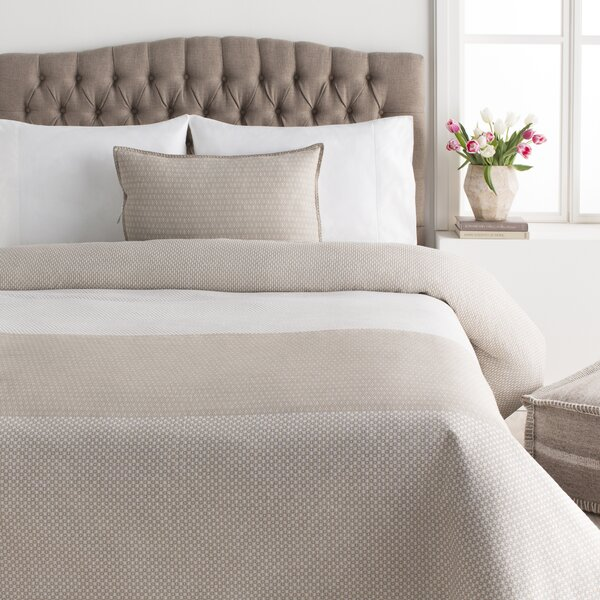 La Plata Reversible Beige/White Duvet Cover Set by Trent Austin Design
