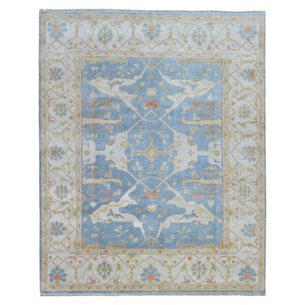 One-of-a-Kind Janean Oushak Hand Woven Wool Blue Area Rug by Darby Home Co