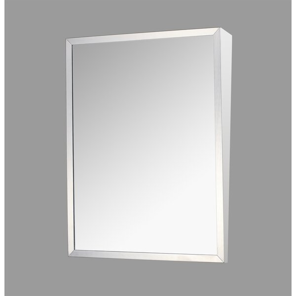 Crewkerne Stainless Steel Mirror 30 x 16 Surface Mount Framed Medicine Cabinet Adjustable Shelves by Ebern Designs