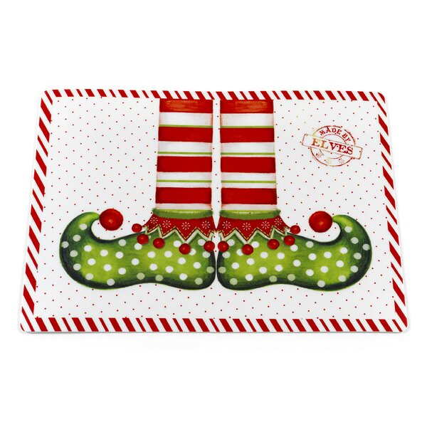 Elf Shoes Holiday Placemat (Set of 4) by Ben and Jonah