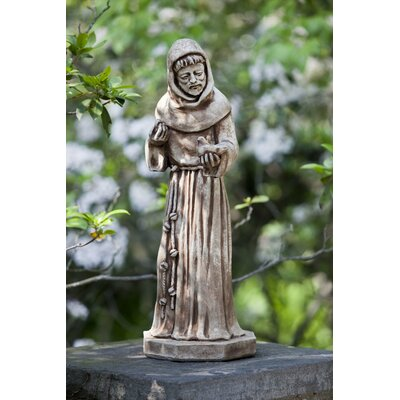 St. Francis with Bird Statue Campania International Color: Natural -  R-104-NA
