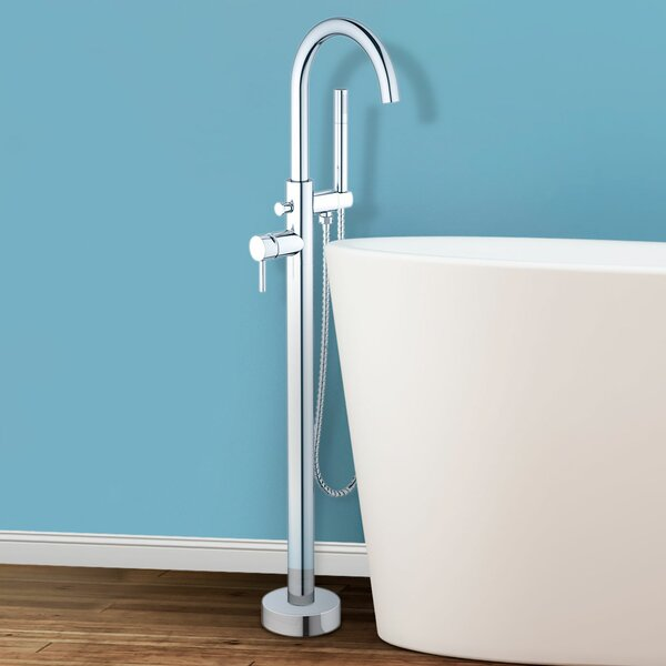Sorrento Single Handle Floor Mounted Freestanding Tub Filler Trim by Finesse Finesse