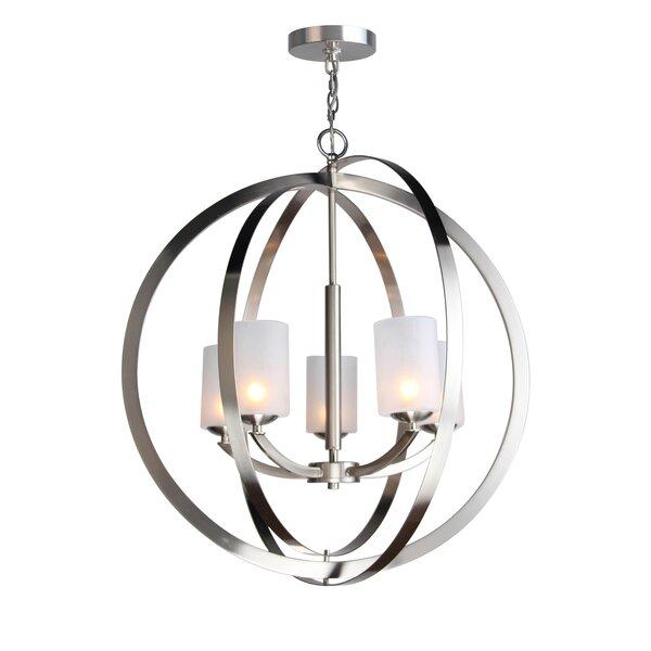 Heavner 5 - Light Shaded Globe Chandelier By Ebern Designs