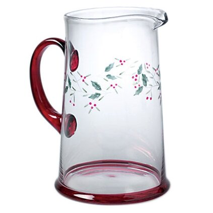 Winterberry Glass Water Pitcher By Pfaltzgraff.