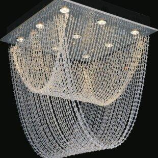 9-Light Flush Mount By CWI Lighting Ceiling Lights
