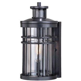 Sathvik Outdoor Wall Lantern With Motion Sensor