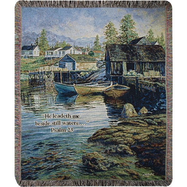 Solitude Tapestry Cotton Throw by Manual Woodworkers & Weavers