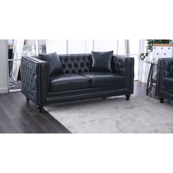 Azuela Chesterfield Loveseat by Rosdorf Park