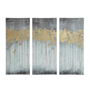 Evening Forest 3 Piece Painting Print Set by Mercury Row