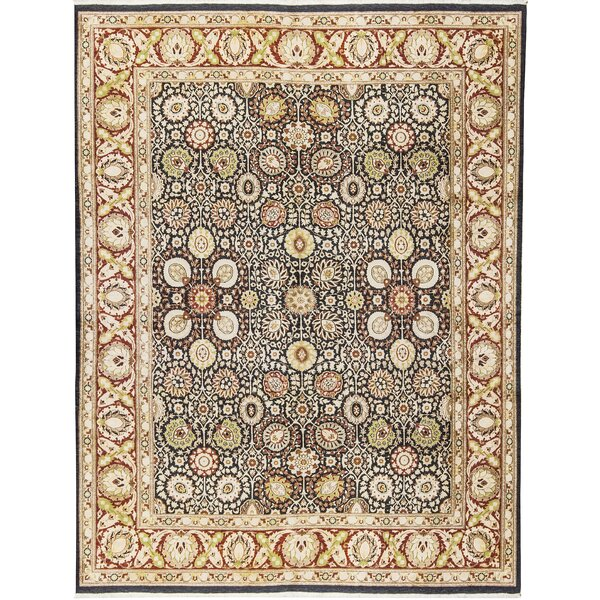 One-of-a-Kind Veg Dye Hand-Knotted Wool Black/Red Area Rug by Bokara Rug Co., Inc.