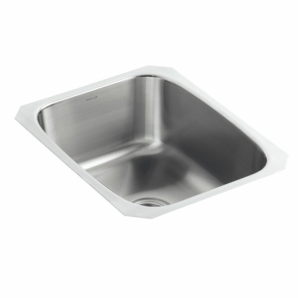 Undertone 16-1/4 x 20-1/2 x 8 Large Under-Mount Single-Bowl Kitchen Sink by Kohler