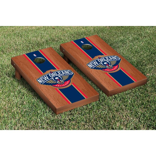 NCAA Rosewood Stained Cornhole Game Set by Victory Tailgate