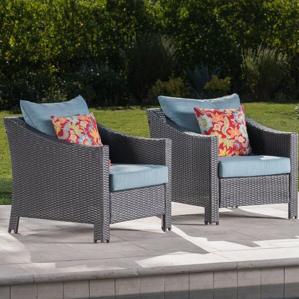Hellman Patio Chair with Cushions (Set of 2) by Highland Dunes