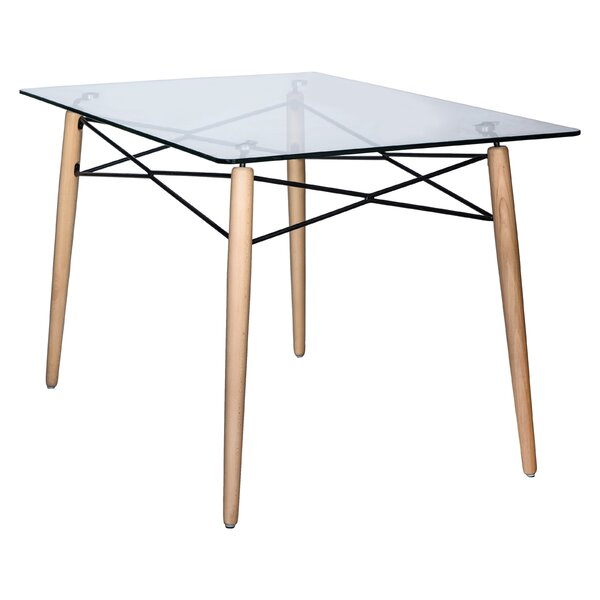 Kamron Glass Top Dining Table by George Oliver George Oliver