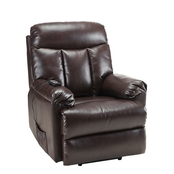 Mauriceville Faux Leather Power Lift Assist Recliner W003250488