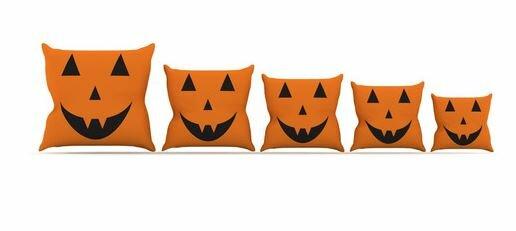 Pumpkin Treat Throw Pillow by KESS InHouse