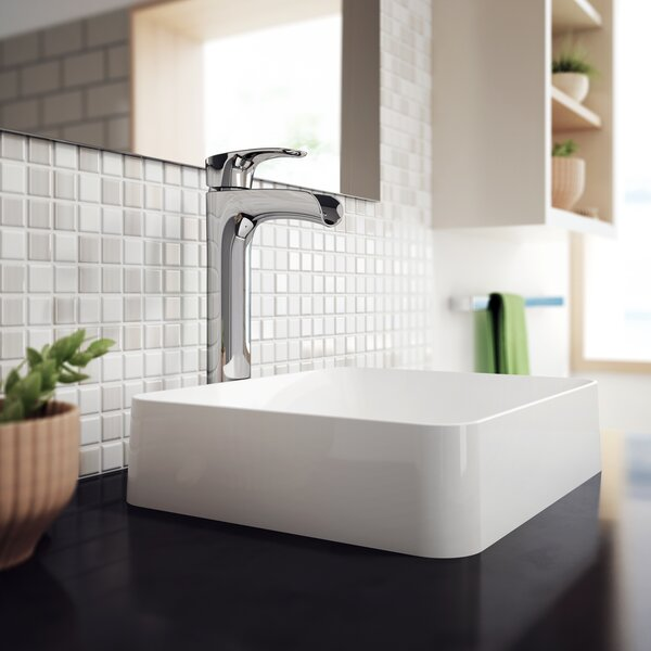 Solid Surface Stone Rectangular Vessel Bathroom Sink with Faucet