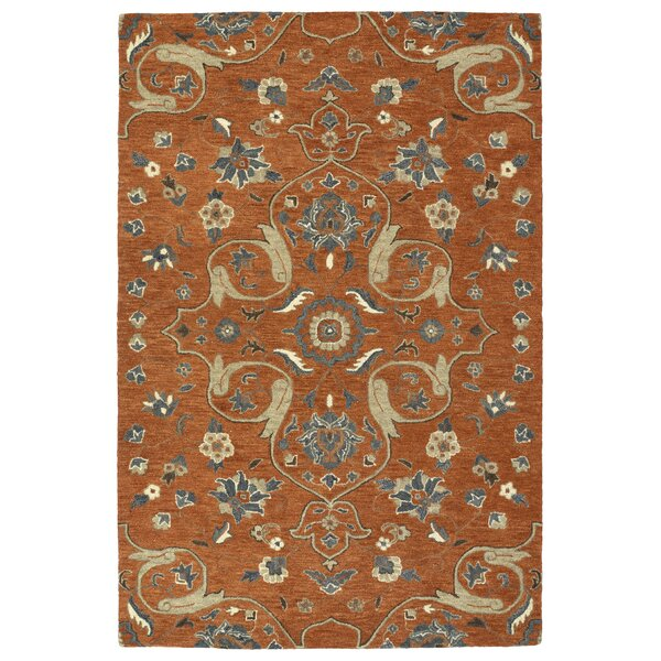 Fischer Hand-Tufted Paprika Area Rug by Charlton Home