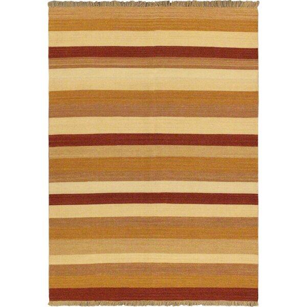 Fiesta Brown/Orange Striped Area Rug by ECARPETGALLERY