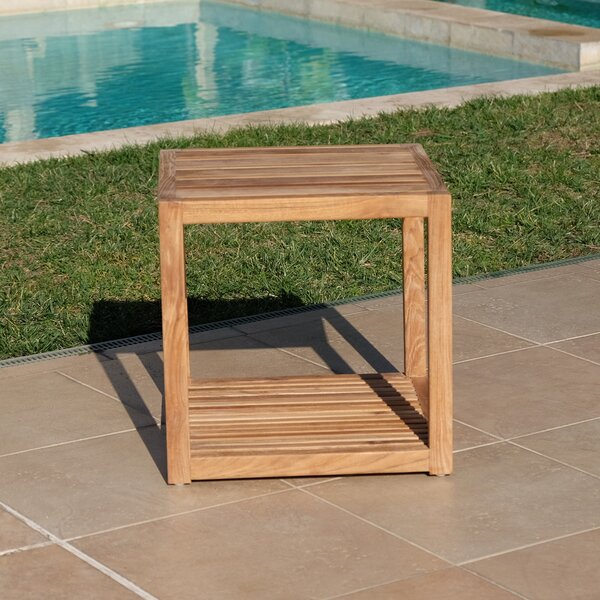 Zahn Teak Side Table by Rosecliff Heights