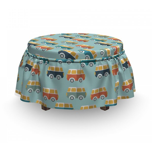 Van Childish Doodle Ottoman Slipcover (Set Of 2) By East Urban Home
