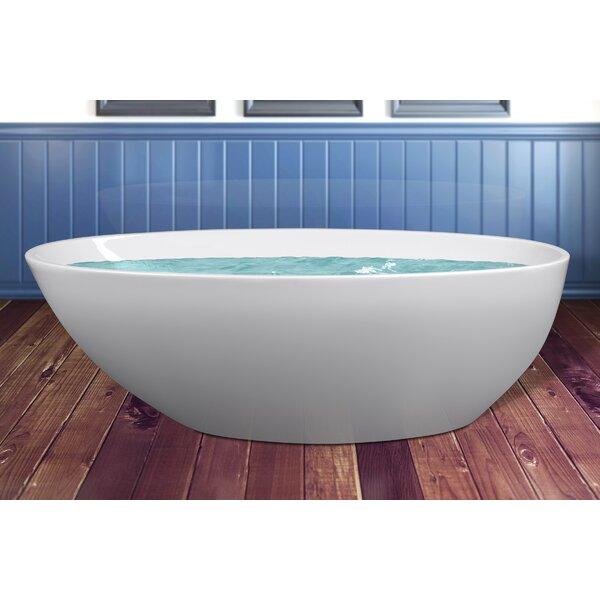 Acrylic Freestanding Modern 68.9 L x 33.5 W  Bathtub by AKDY