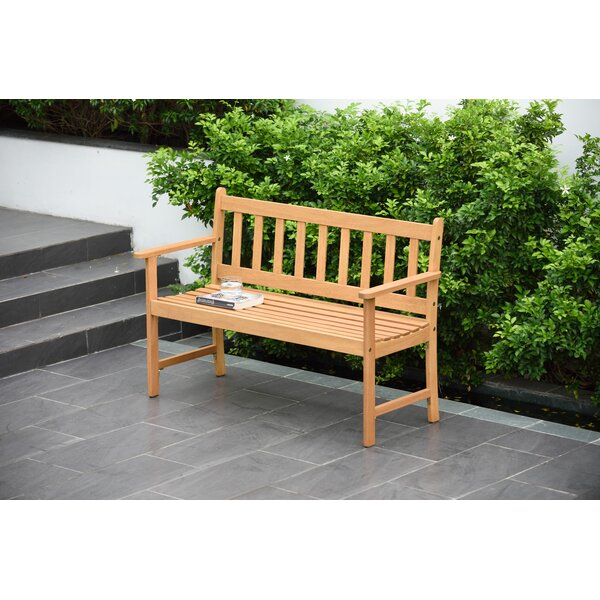 Olinda 2 Seater Wooden Garden Bench by Wrought Studio