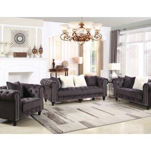 Angharad 3 Piece Living Room Set by House of Hampton®
