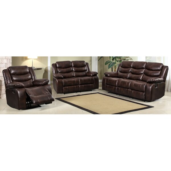 Hillcrest Reclining 3 Piece Living Room Set by Latitude Run