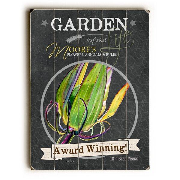 Garden Award Winning Wooden Textual Art by August Grove