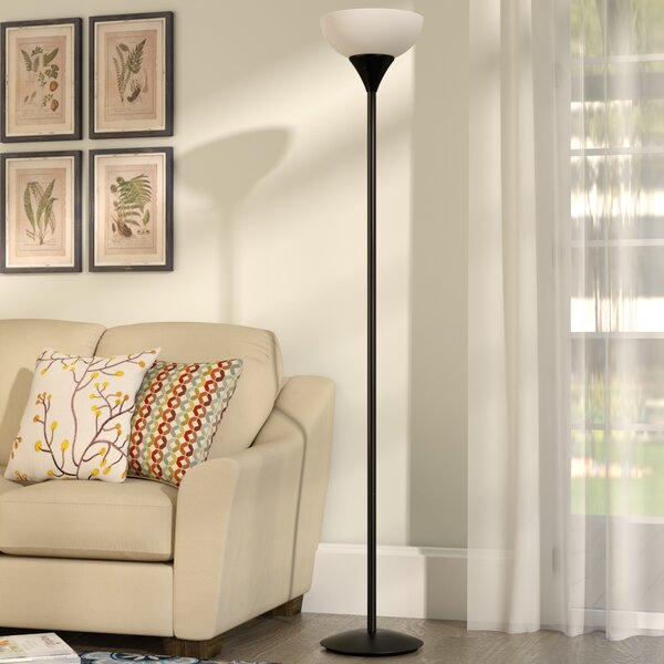 Delisio 71 Torchiere Floor Lamp by Andover Mills