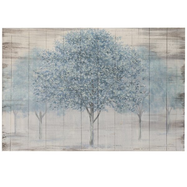 Print On Wood In Blue/Gray by Winston Porter