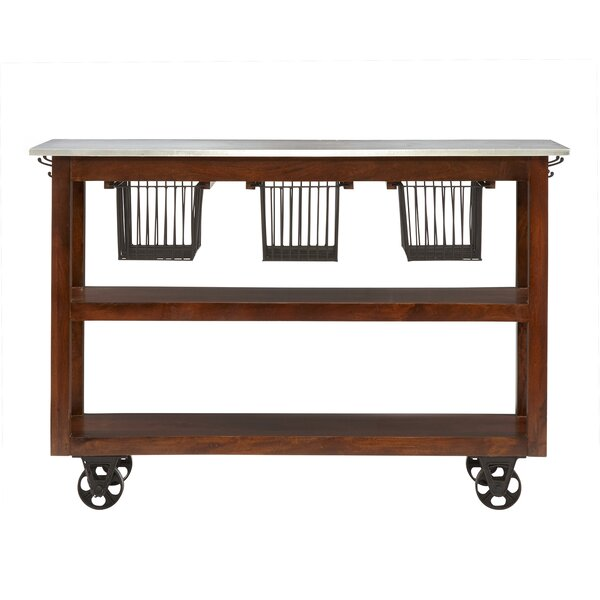 Lytchett Kitchen Cart with Marble Top by August Grove