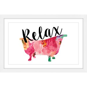 'Relax Tub' by Diana Alcala Framed Painting Print by Marmont Hill