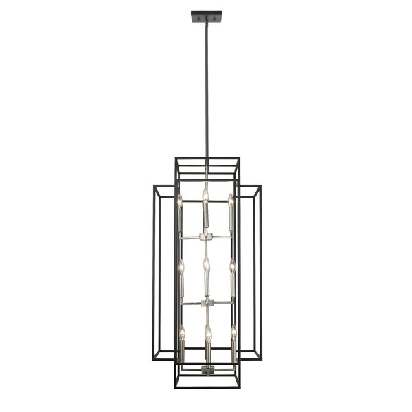 Bedingfield 12 - Light Lantern Rectangle Chandelier by Ivy Bronx Ivy Bronx