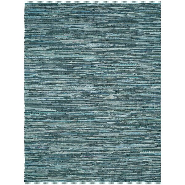 Shatzer Hand-Woven Turquoise Area Rug by Wrought Studio