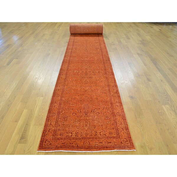 One-of-a-Kind Benally Handwoven Orange Wool/Silk Area Rug by Isabelline
