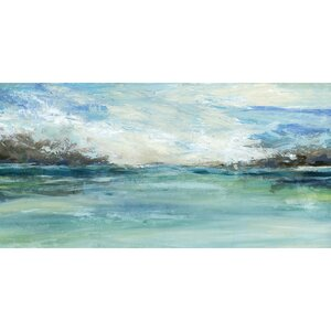 'Wild Sea' Print on Wrapped Canvas by Beachcrest Home
