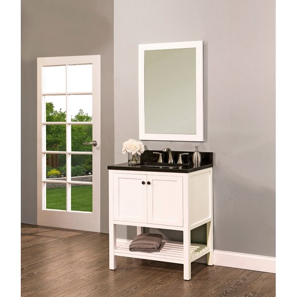 Hampton Bay 30 Single Bathroom Vanity with Mirror by NGY Stone & Cabinet